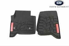14-17 GMC Sierra All Weather Front Mats 23453023 Black w/ All Terrain Logo OEM
