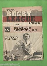 #QQ. THE RUGBY LEAGUE NEWS, 22-25th February 1973, St. George cover