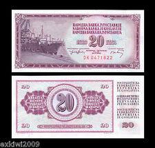 Jugoslavia 20 Dinara 1974 P-85 MINT UNC banconote UNCIRCULATED