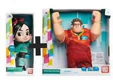 2 Set Disney Vanellope y Wreck It Ralph 2 hablando Conjunto de Juguete Figura De Acción Nueva