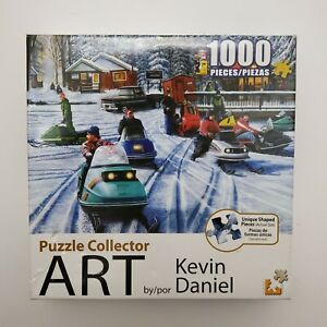 Puzzle Collector Art Jigsaw Snowmobile By Kevin Daniel 1000 Pieces (New)