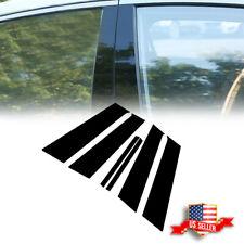 For 2008~2015 Mitsubishi Lancer Black Door Trims Posts Pillar Panel Evo X 6pcs (Fits: Mitsubishi)