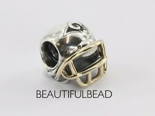 Authentic Pandora Silver & 14k St. Louis Rams Helmet Bead USB790570-G129