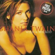 Shania Twain - Wild & Wicked (CD, 2000, Germany) Picture Disc 36 x 48 Poster NEW
