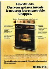 Publicité Advertising 1976 Le Four encastrable Chappée
