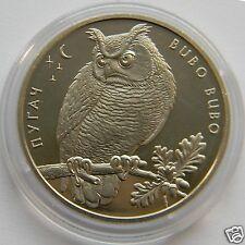 EAGLE OWL - BUBO BUBO Ukraine 2 Hryvnia 2002 Rare Bird Fauna Coin KM#155
