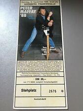 PETER MAFFAY 1988 NÜRNBERG    ++  ORIGINAL CONCERT - KONZERT - Ticket