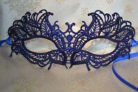 Blue Masquerade Mask Lace Venetian Style Weddings New Year's Masked Balls Proms