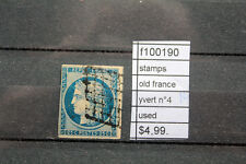 STAMPS OLD FRANCE YVERT N°4 USED (F100190)