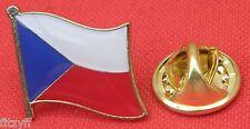 Czech Republic Country Flag Lapel Hat Cap Tie Pin Badge česká republika Brooch