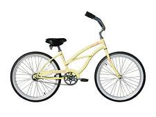 "Micargi 26"" Pantera Women beach cruiser bicycle bike Vanilla"