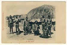 S Africa Busty nude Zulu Women/donne nude nel kraal * VINTAGE 1900s PC