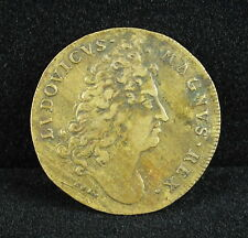 Jeton LOUIX XIV R/ ARMIS NUNC TOTA Medal token Ludovicus Magnus