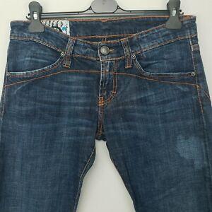 Calvin Klein Womens STRETCH Vintage Jeans Low Rise W31 L30 Blue Regular Straight