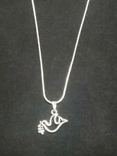 Peace Dove Necklace Pendant on Sterling Silver Chain