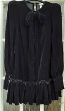 THE VAMPIRE'S WIFE X H&M SS2020 BOW GOTHIC VELVET MYSTERY DRESS SIZE  MEDIUM