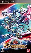 PSP SD Gundam G Generations Over World Japan Import SONY Japanese
