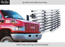 For 2003-2009 Chevy Kodiak/GMC Topkick C4500 C8500 Vent Stainless Billet Grille