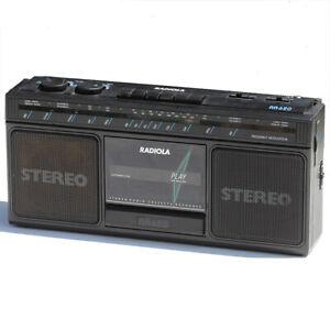 Poste radio cassette Radiola RA620 vintage de 1985 ( à réviser )