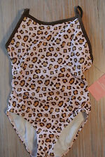 GYMBOREE Swim Suit Leopard Print 1 pc UPF 50+ Sunscreen Swimwear Bathing *NWT*