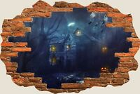 3D Hole in Wall Halloween Ghost & Ghouls View Wall Stickers Decal Mural 772