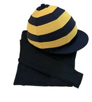 Children's Navy/ Golden yellow  Base layer Horse Riding  Age 8-10years.