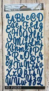 Sticko Blue Glitter Script Alphabet Letter Stickers Planner Teacher Supply Craft