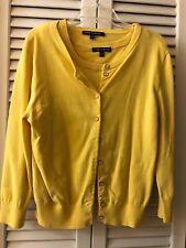 Cable and Gauge Cardigan And Tank Shirt Medium Yellow