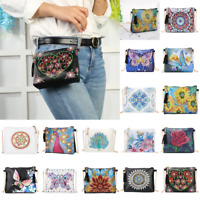 DIY Butterfly Special Shaped Diamond Painting Leather Chain Messenger Bags Lot