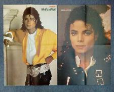 "2x Original Retro 90s Michael Jackson Magazine Centrefold Posters 22x14""/55x36cm"