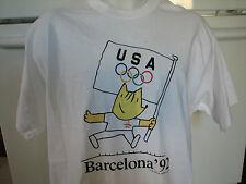 1992 Barcelona Spain USA olympics t shirt vintage Cobi mascot New with tags XL