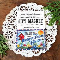 "DecoWords 2""x3"" Fridge Magnet  MEMA PAPA MAGNET Gift Grandparent name New USA"