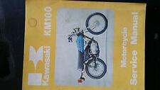 kawasaki km100 service/workshop manual, suits 1978 79 models,