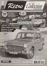 RETRO COLLECTION 40 DOSSIER PEUGEOT 404 BERLINE PONTIAC TRANS AM ANNIVERSAIRE 79