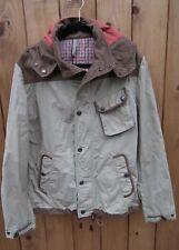 ZARA Man Beige & Brown Hooded Jacket Size L