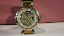BIN4 KENNETH COLE MODEL KC4638 AUTOMATIC IN DISPLAY CASE WITH 2 TONED BAND