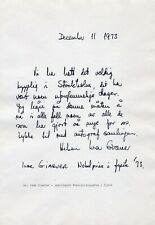 1973 Nobel Prize in Physics IVAR GIAEVER Autograph Letter Signed from 1973!