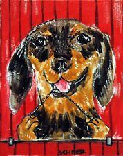 dachshund flossing dog art Set of Notecards envelopes