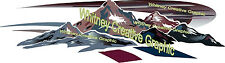 MONTANA Mountain Scene RV Graphic Lettering decal END CAP VERSION