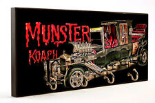 MUNSTER CAR KOACH CAR AUTO WOOD 4 KEY HANGER HOLDER USA MADE