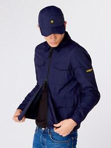 Terrace Cult Mens Ciro Lightweight Overshirt-Navy