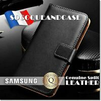 Etui coque housse Genuine Split Leather Case cover Samsung Galaxy (All models)