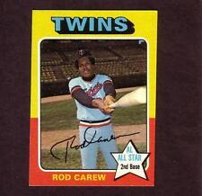 1975 Topps # 600 Rod Carew Minnesota Twins All Star 2nd Base HOF'er