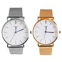 Retro Minimalist Mesh Watch Men Women Fashion Casual Analog Quartz Watches Gifts