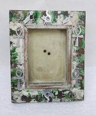 Wooden Photo Frame Hand Carved Metal Fitted Picture Frame Collectible Home Art