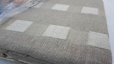 "B&Q VOILE CURTAINS ""ZAK"" SQUARE in BEIGE/PUTTY/MUSHROOM   NATURAL MIX 57"" X 72"""