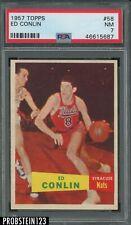 1957 Topps Basketball #58 Ed Conlin Nats PSA 7 NM