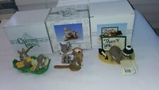 3 Charming Tails- Thank You-you Made Me Happy-painting leaves figurines
