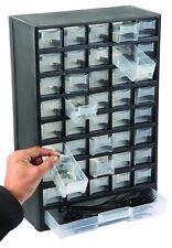 Wall Mounted Cabinet Garage Workshop Organiser Screws Storage Trays Drawers Box