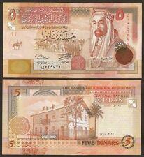 JORDAN 5 Dinars 2014 UNC P 35 f